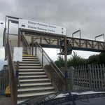 The footbridge from the main Didcot Parkway Station car park to the Centre.