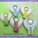 Anhaenger Engel aus Keramik