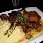 """""""Royale"""" Lamb And Chicken Brochette, Merguez Sausages"""