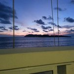 Sunset depuis le restaurant superbe