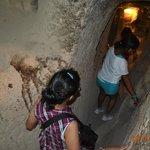Narrowness of the underground city corridors
