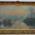 Monet's Soleil Couchant sur la Seine a Lavacourt, effet d'hiver