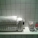 Towels and extra bathroom goodies to buy