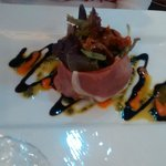 Salad of Parma ham and sun dried tomatoes