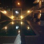 Grand main pool at night