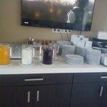 Breakfast..juices, coffee, tea, chai