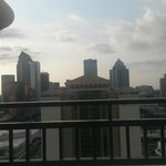 View of downtown Tampa from concierge lounge