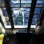 Hotel Room looking into atrium