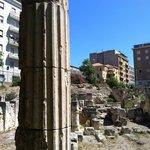 Una delle colonne della Villa di Tigellio  a Cagliari