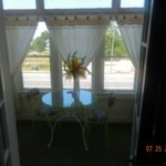 view from our bedroom into the sunroom