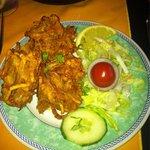 Fresh & hot onion Bhajis !