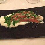 entrée : saumon gravlax