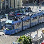 The tram passes next to the Locarno