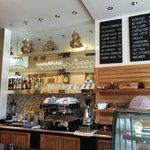 Italian coffee,Cake home Made and Italian Gelato Fatto a casa.