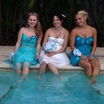 Beautiful poolside wedding
