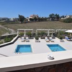 view from rooms balcony of private pool