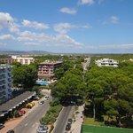 Ausblick vom Balkon im 9. OG