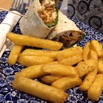 Chicken wrap with chips