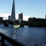 A drink dangerling over The Thames