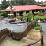 multi-level hot spring pools