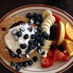 Blueberry pancakes at Hollywood Cafe