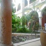 Jardim interno, área do restaurante