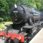 Steam locomotive at Oxenhope