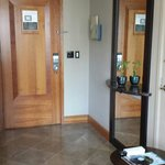 Entry way. There's a doorbell on all rooms.
