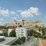view of the acropolis from the museum