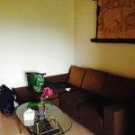 Unimaginative sitting area