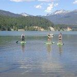 Paddleboarding on Green Lake!