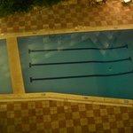 vista piscina dall'alto