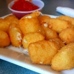 Beer battered white cheddar curds