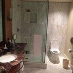 Marble floors in bathroom