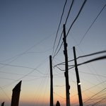 Sunset through the wires
