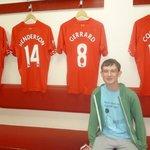 Grandson sat in players dressing room