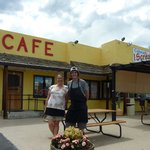 Chef Cassidy Cordova and his mom at A Mimi Cafe