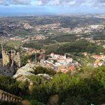 View of Sintra and the National Palace from Castelo dos Mouros