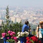 Vue de Malaga du Parador Des terrasses