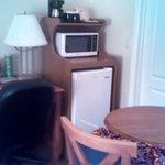 Dining Area/Refrigerator & Microwave