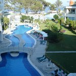 The pool is observed from sea view rooms