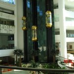 Natural stone decoration and golden elevators )), it's Turkey