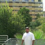 The San Fernando tower that has the balcony rooms from the courtyard across the river. The terra