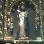 Figura de Santiago Apóstol en la Colegiata de Roncesvalles.