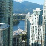 View from my room (2804) to Stanley Park and North Vancouver