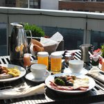 Breakfast on the terrace every morning