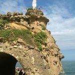 La Virgen sobre la Roca. Biarritz.
