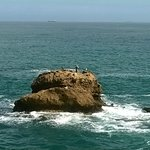 Rocas junto a la Roca de la Virgen en Biarritz.