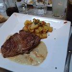 rumsteack grillé sauce foie gras