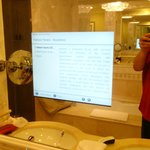 TV and internet in bathroom mirror